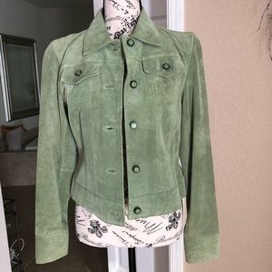 Green suede Jacket by INC